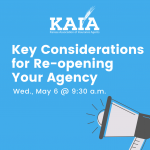 Key Considerations for Re-opening Your Agency Webinar
